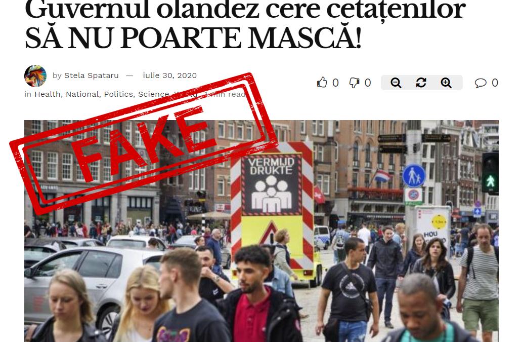 """STOP FALS CORONAVIRUS! Nuanțe olandeze în construcția de fake news: """"să nu"""", """"nu vrea"""" și """"nu va"""""""