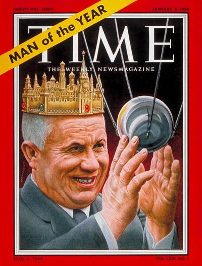 TIME Magazine Cover: Nikita Khrushchev, Man  the Year -- Jan. 6, 1958